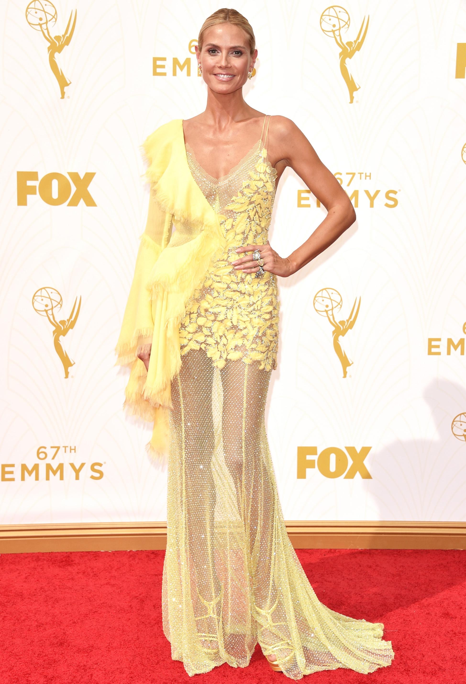 Heidi Klum at the 2015 Emmys