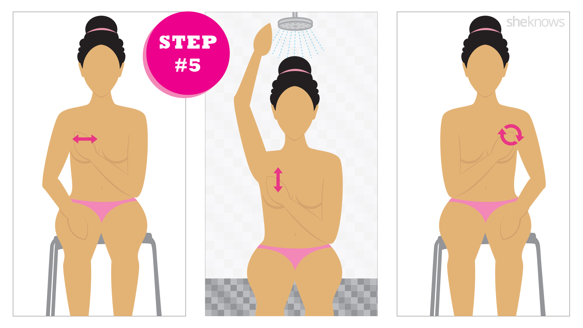 An illustrated guide to performing a breast exam at home