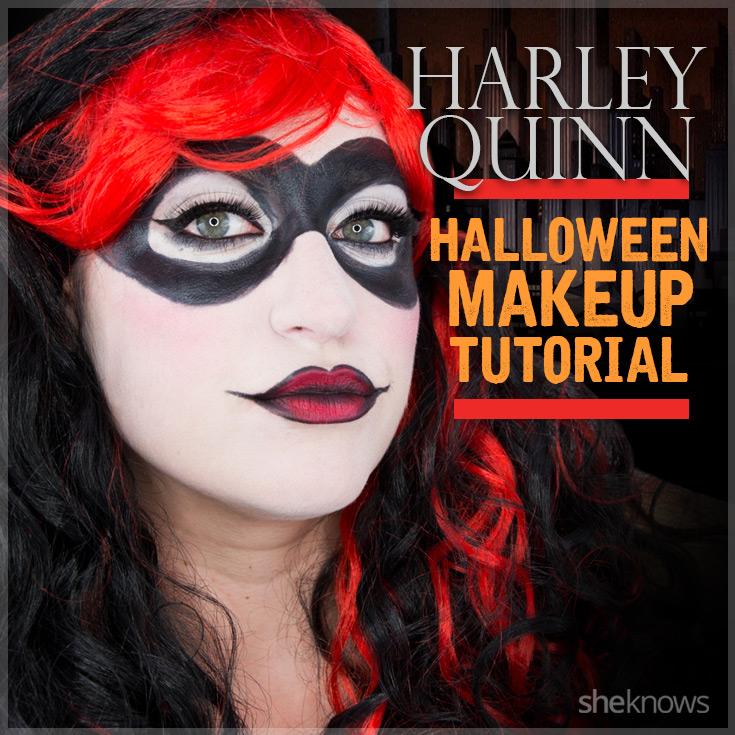 Harley Quinn makeup finished
