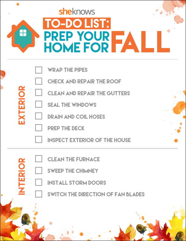 11 things you need to do to prepare your home for fall for Fall home preparation
