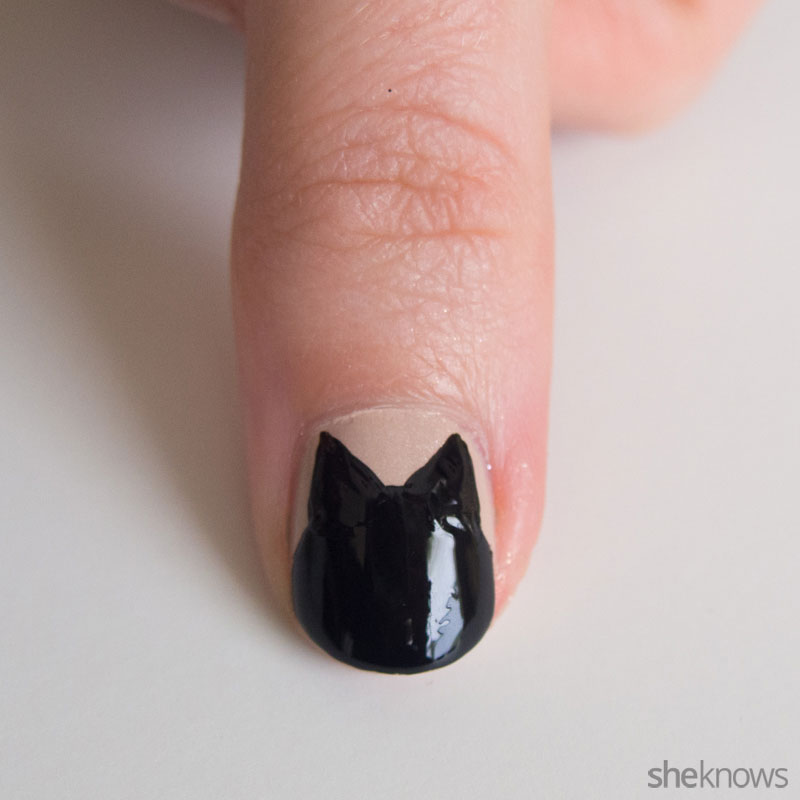 Black cat nail tutorial is part spooky, part cute and fun to create