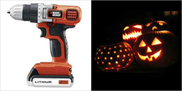 Top jack-o'-lantern tools