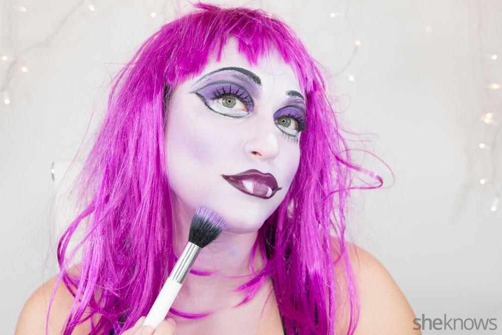 Ghoulish glam Halloween makeup tutorial: Step 17c