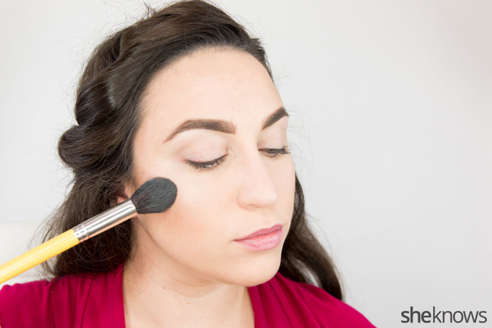 Classic Wonder Woman makeup tutorial: Step 3