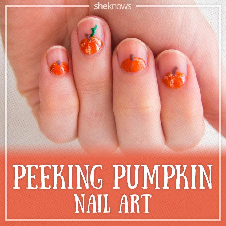Cute pumpkin nails that are so simple to create