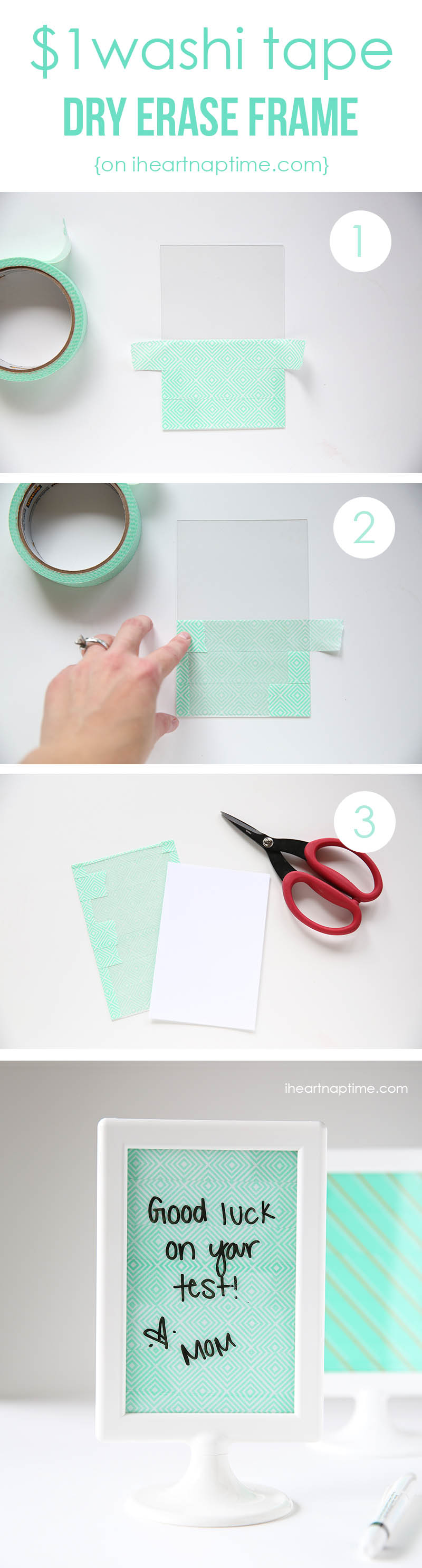 15 easy ways washi tape can transform your diy projects - Simple ways of keeping your home organized using magnetic picture frames ...