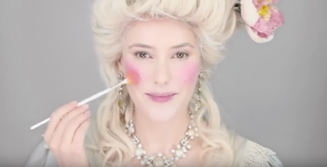 Mid-18th century makeup