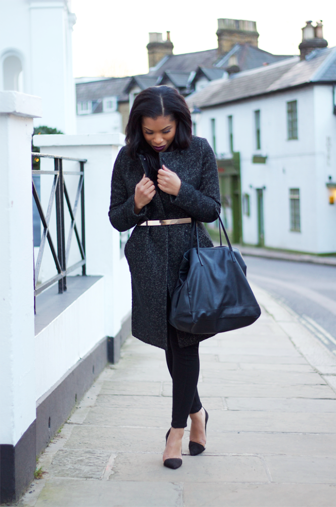 leggings with belt and coat