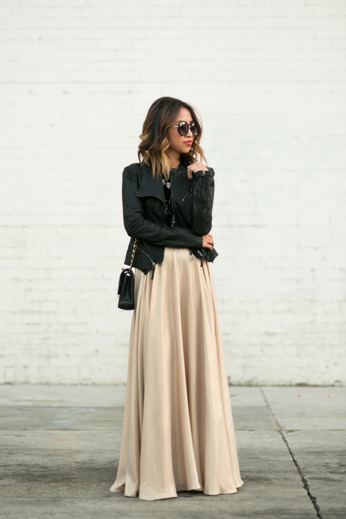 maxi skirt winter outfit