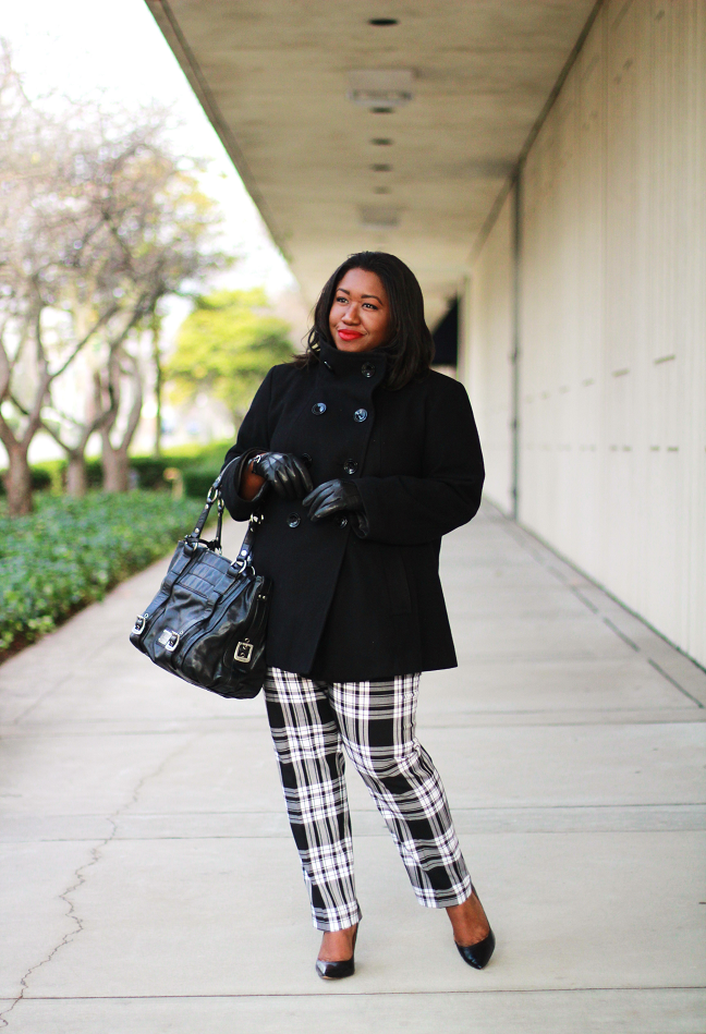 plaid winter outfit