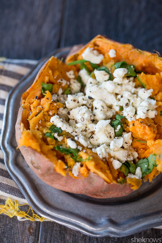 Quesadillas Stuffed With Greens And Feta Recipe — Dishmaps