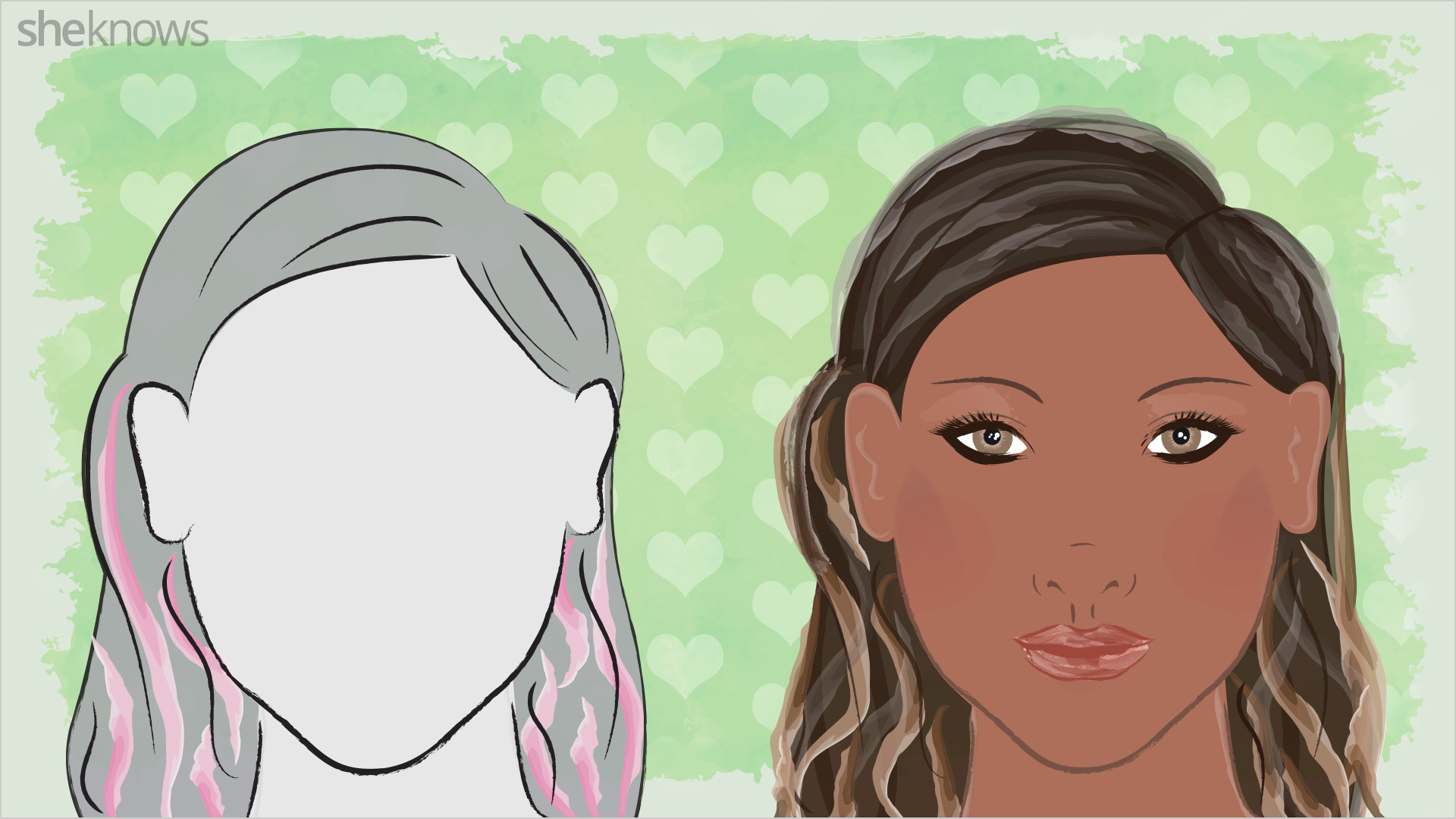 Hair highlights for heart-shaped faces