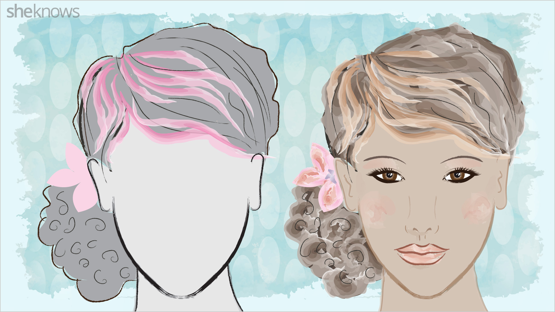 Hair highlights for oval face shapes