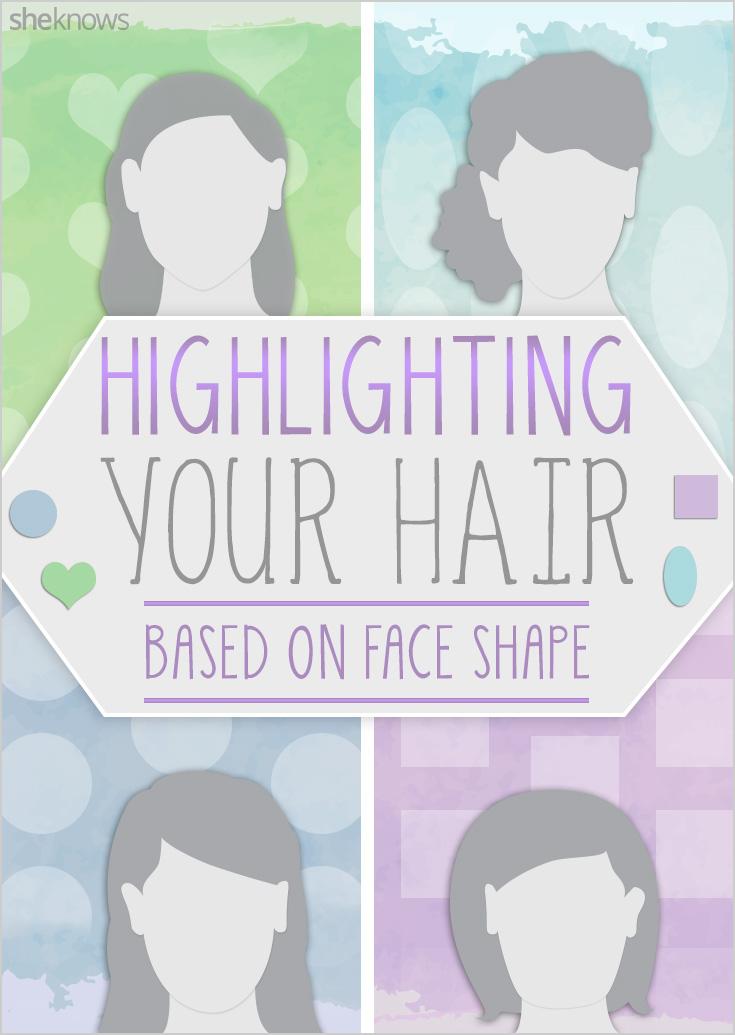 Highlighting hair based on face shape