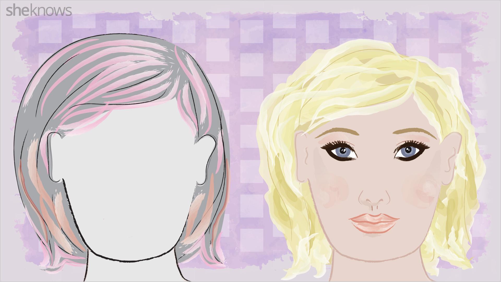 Hair highlights for your face shape
