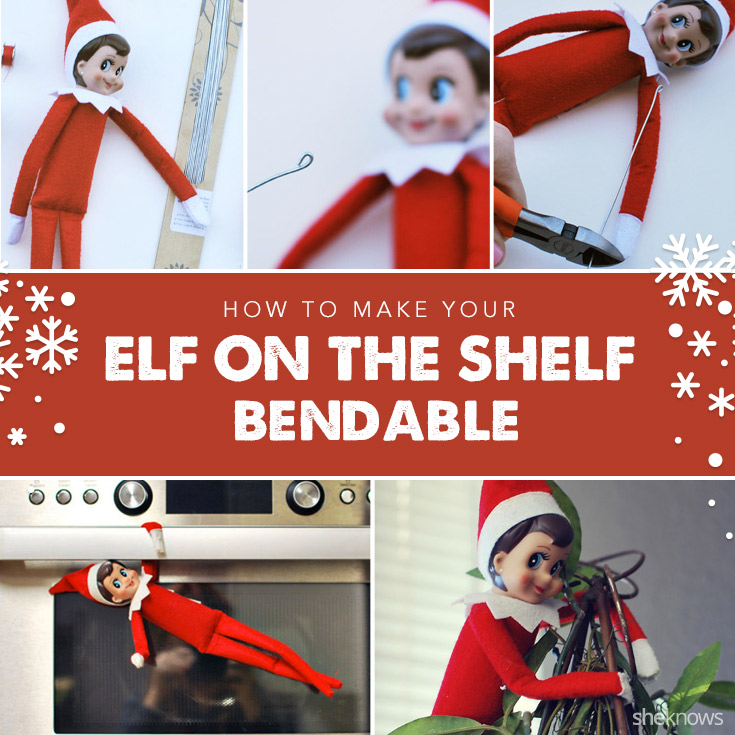 How to make your Elf on the Shelf bendable for better hijinks