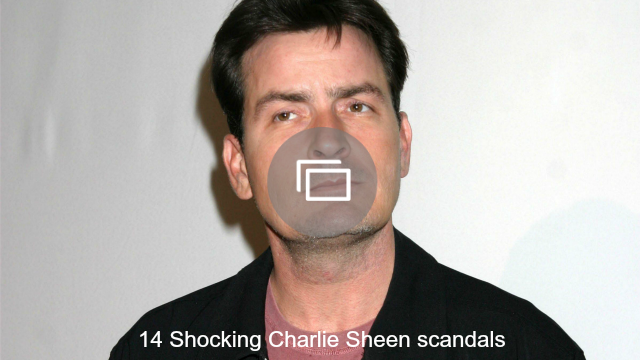 charlie sheen scandals slideshow