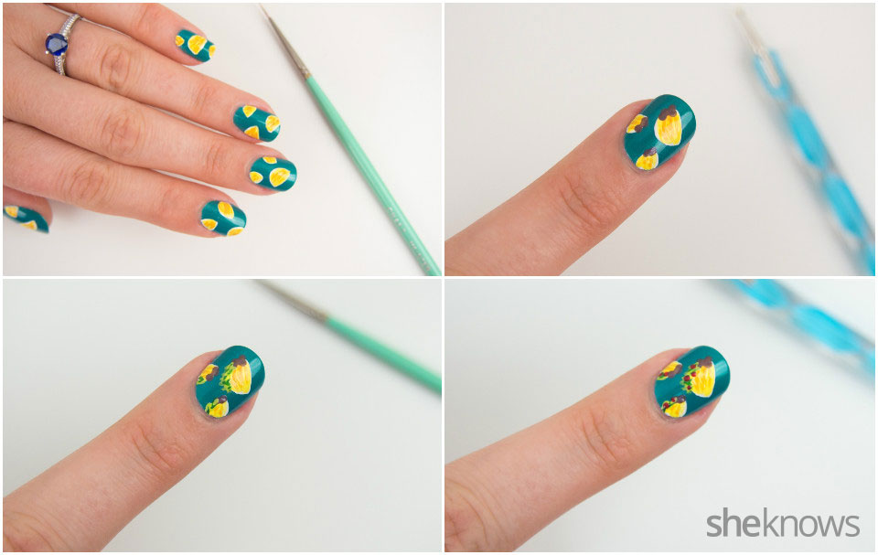 DYI tiny tacos nail art: Step 3b