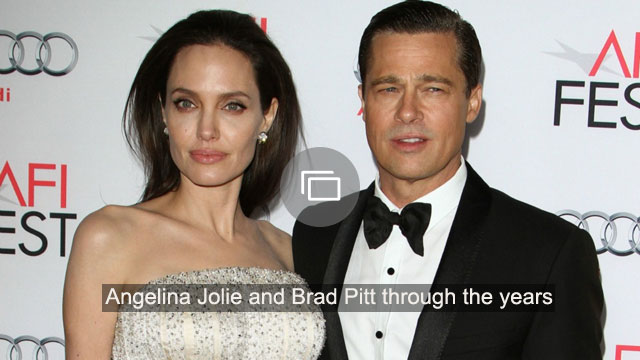 Angelina Jolie and Brad Pitt through the years
