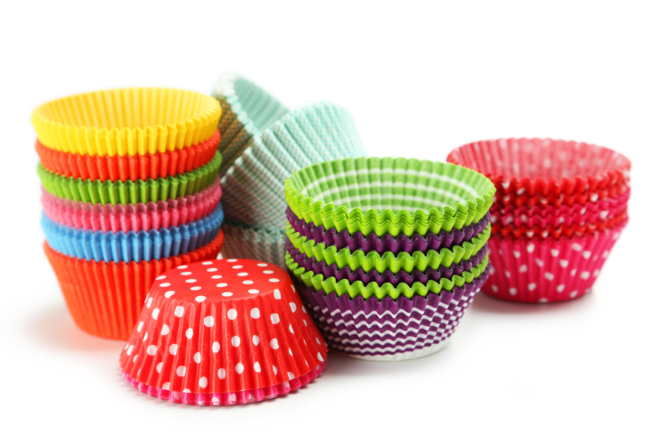 Colorful cupcake cups