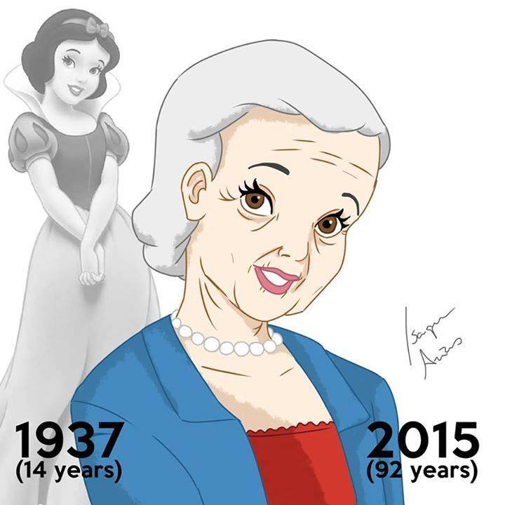 Snow white aged 92