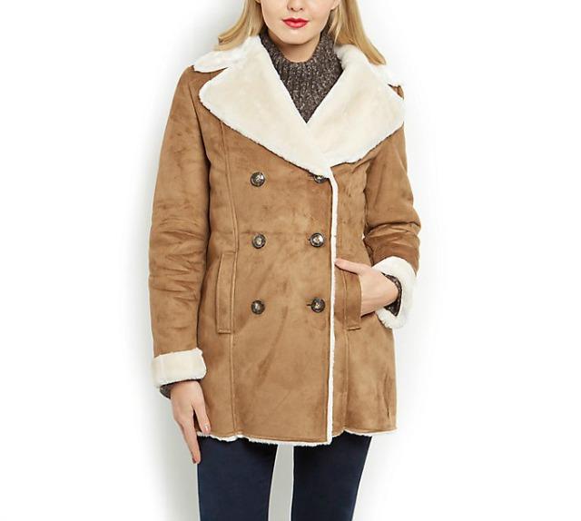 New Look shearling coat