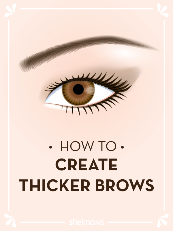 Creating thicker eyebrows