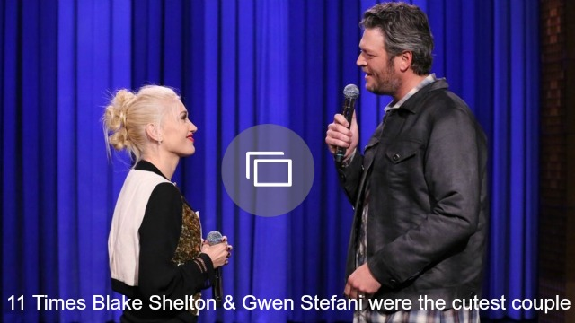 OK, OK, we get it — Blake Shelton and Gwen Stefani are really in love