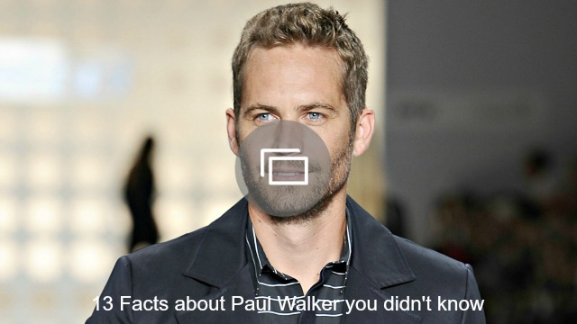 paul walker slideshow