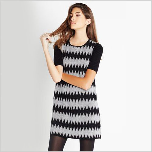 BCBGeneration A-line Jacquard Sweater Dress