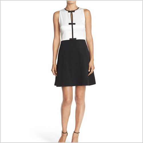 Erin by Erin Fetherson Agnes Color block Stretch Fit & Flare Dress