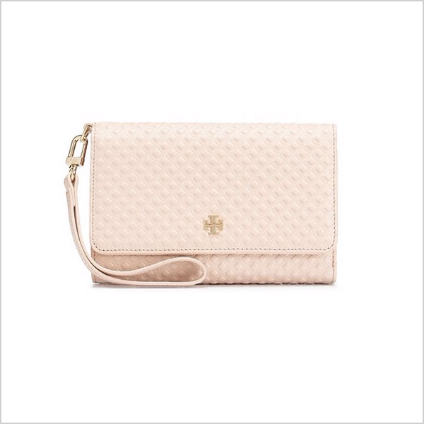 Tory Burch Marion Embossed Tri-Fold Smartphone Wrislet