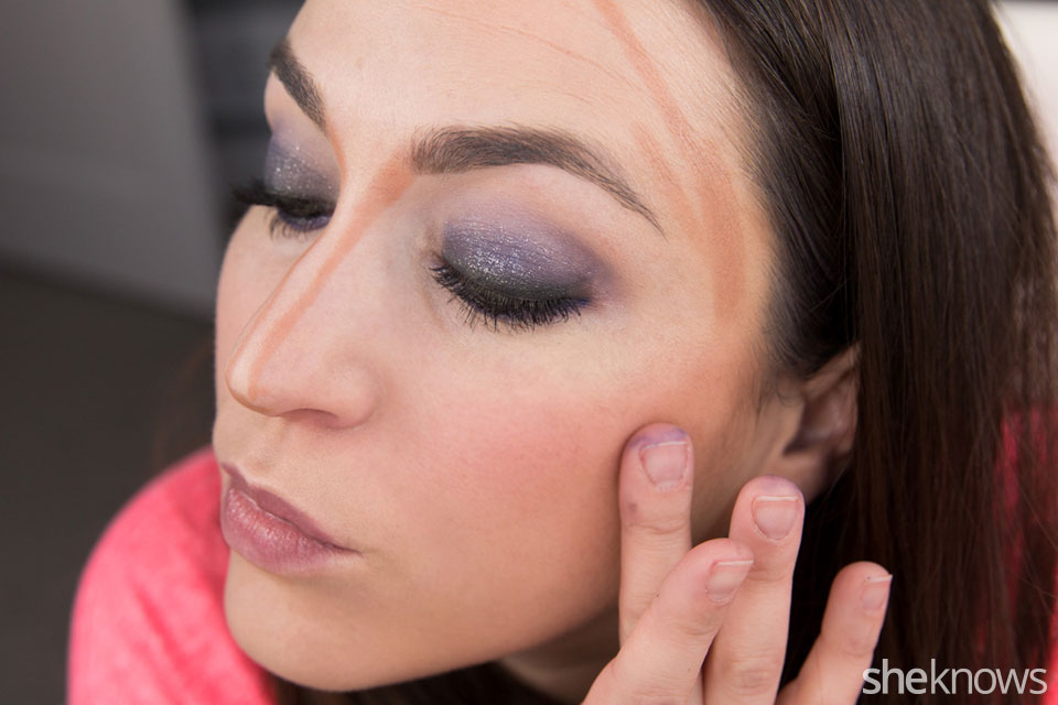 fastest glam party makeup tutorial: Step 9