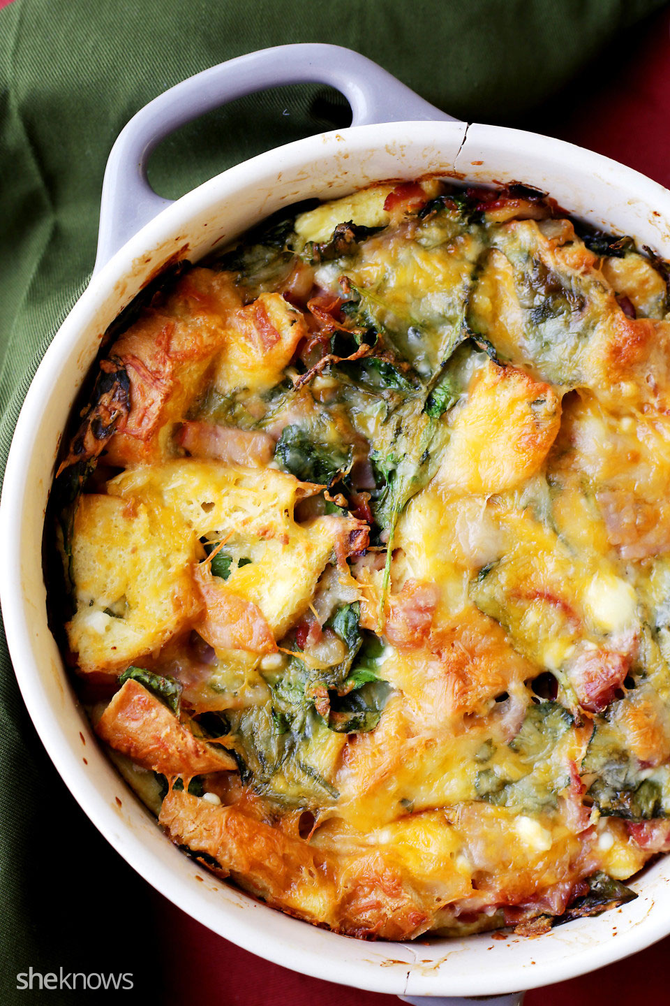 Make prep (and cleanup!) easier by putting all those ingredients in a casserole dish and cooking them up in the morning. Some mozzarella cheese takes the taste over the top. 5.
