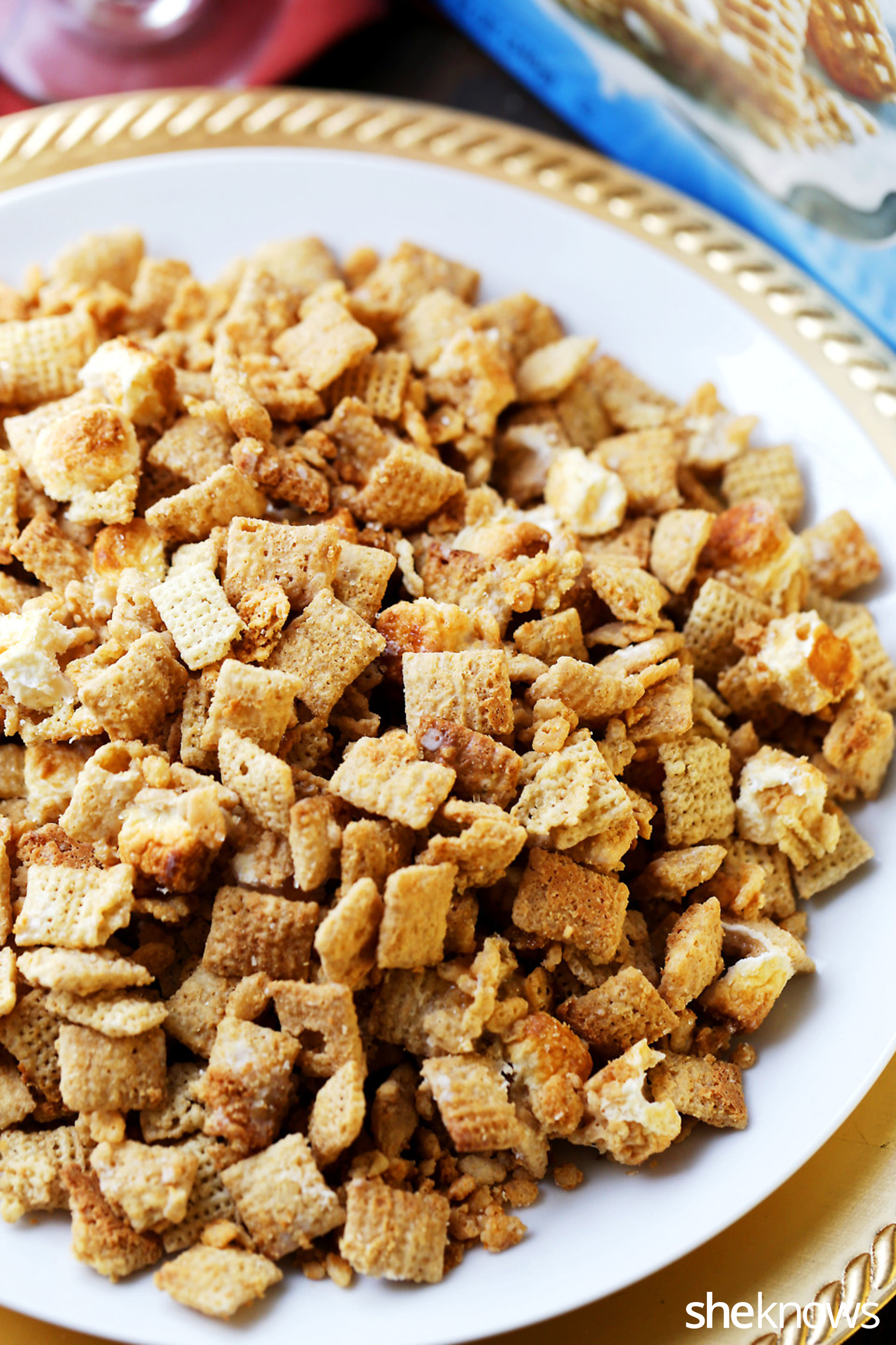 Easy Chex Mix With Cookie Butter And White Chocolate Truffles