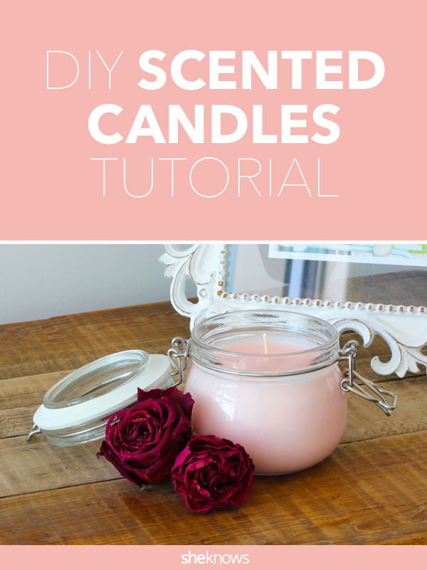 DIY aroma therapy is easy with this simple scented candle tutorial