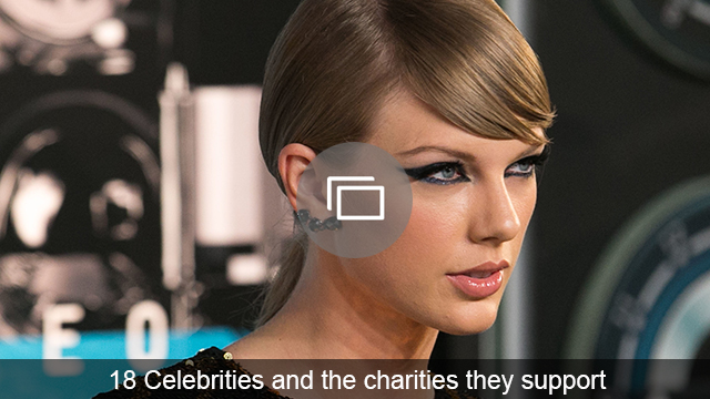 celebs and charities slideshow