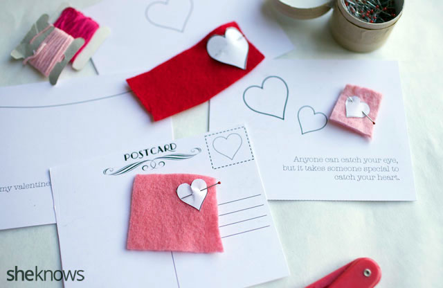 Homemade embroidered Valentine's Day cards you don't need to be a seamstress to make