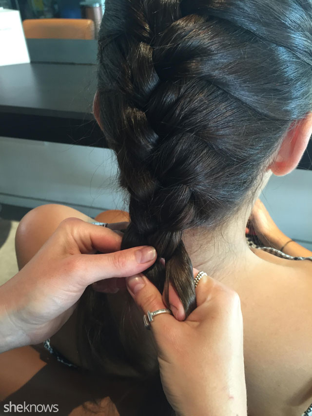 How to do a French braid: Step 6