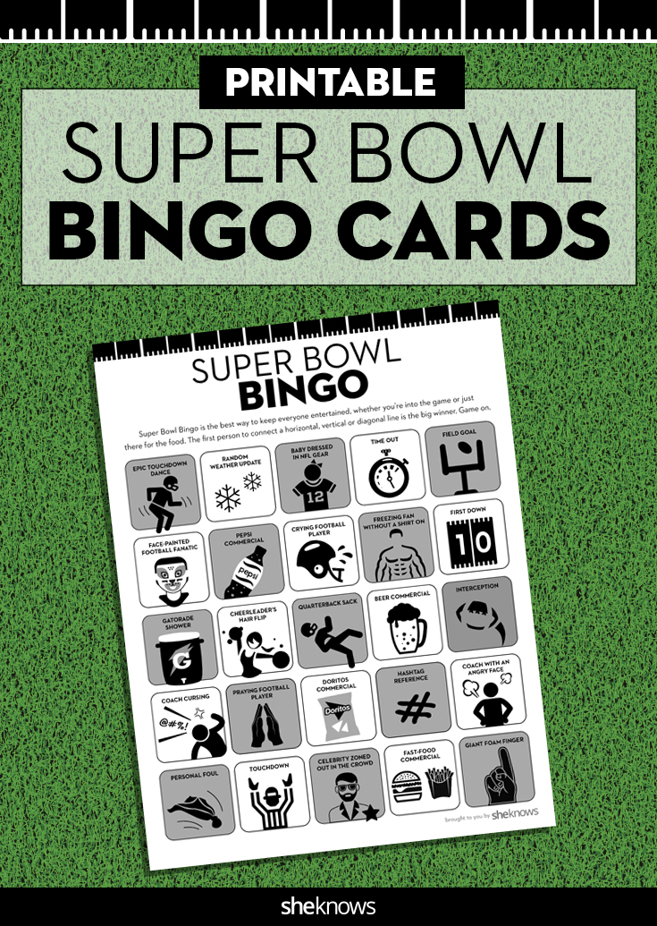 Printable Super Bowl Bingo cards to keep you interested in the game ...