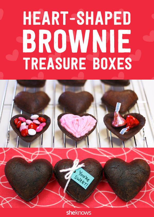 Forget the box of chocolates — brownie treasure boxes are what we really want on Valentine's Day