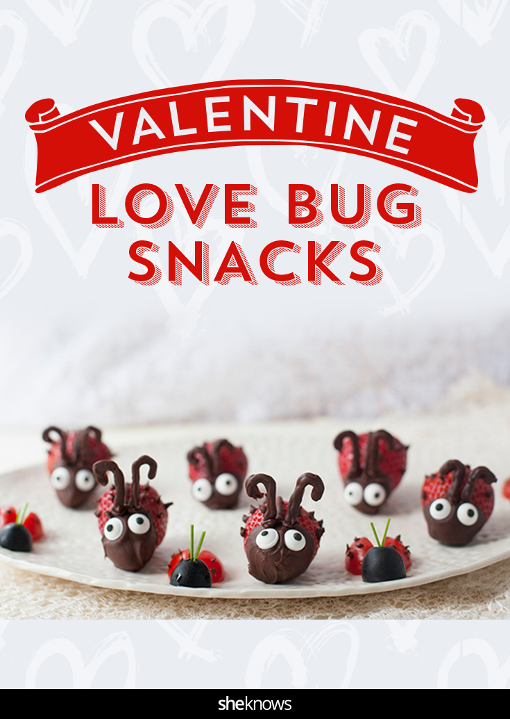 Turn strawberries and tomatoes into too-cute edible 'bugs' for Valentine's Day