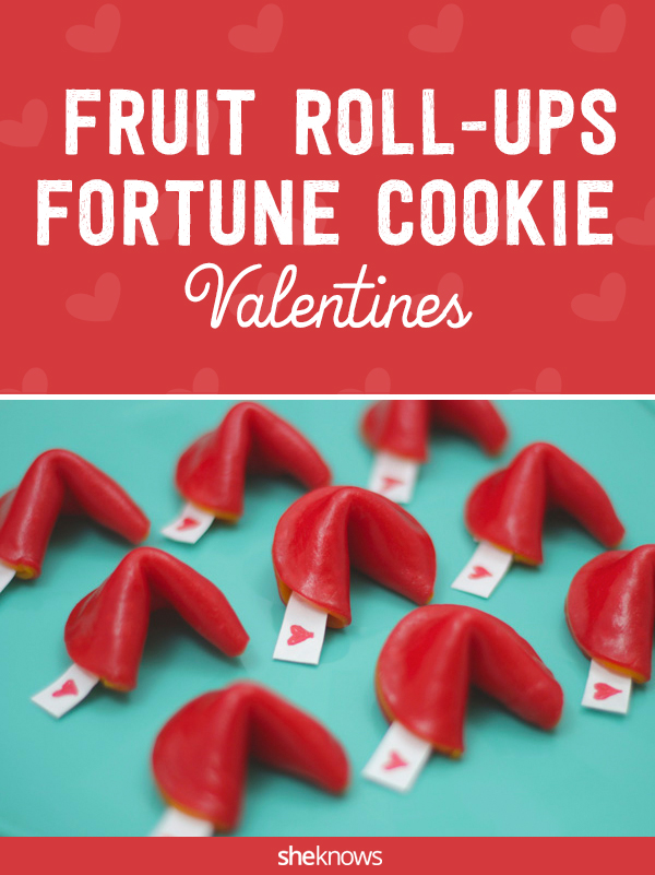 You need only one ingredient for these fortune cookie valentines made from Fruit Roll-Ups