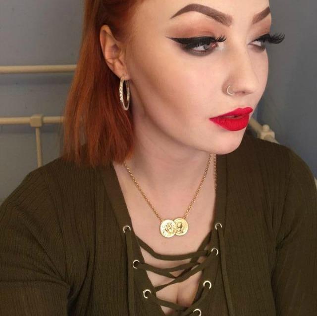 Teenager is trolled for half and half makeup selfie