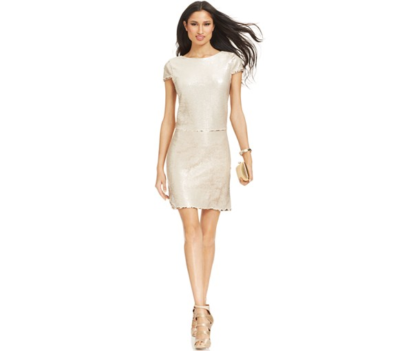 Vince Camuto's sequin colour-changing dress