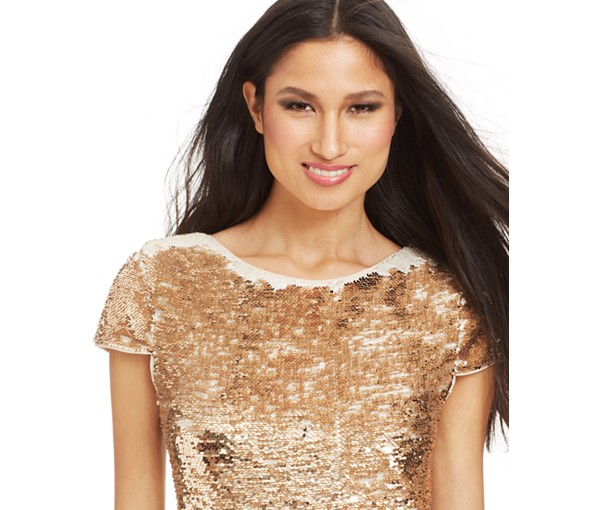 Vince Camuto's sequin dress at Macy's