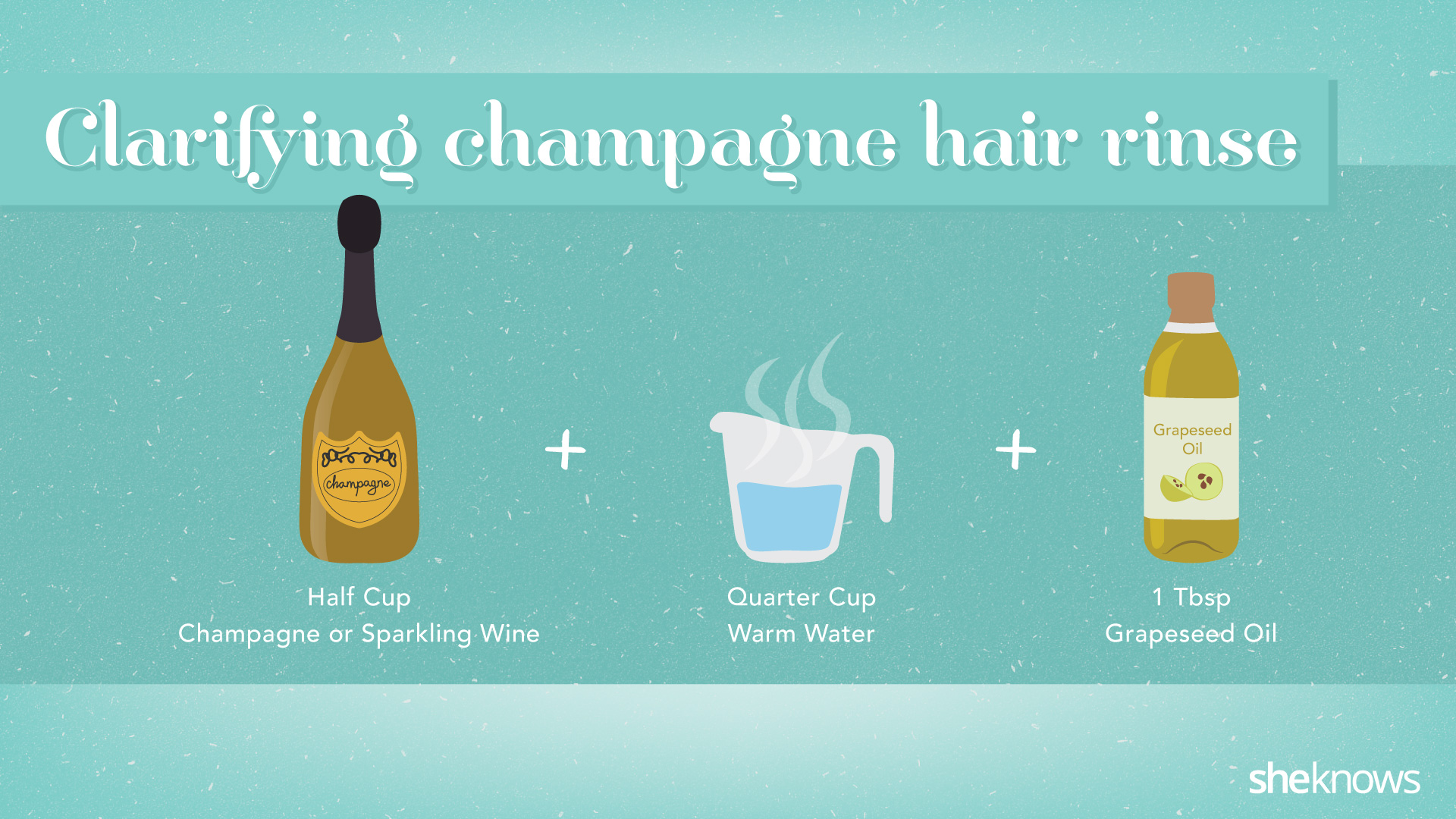 Champagne beauty DIY