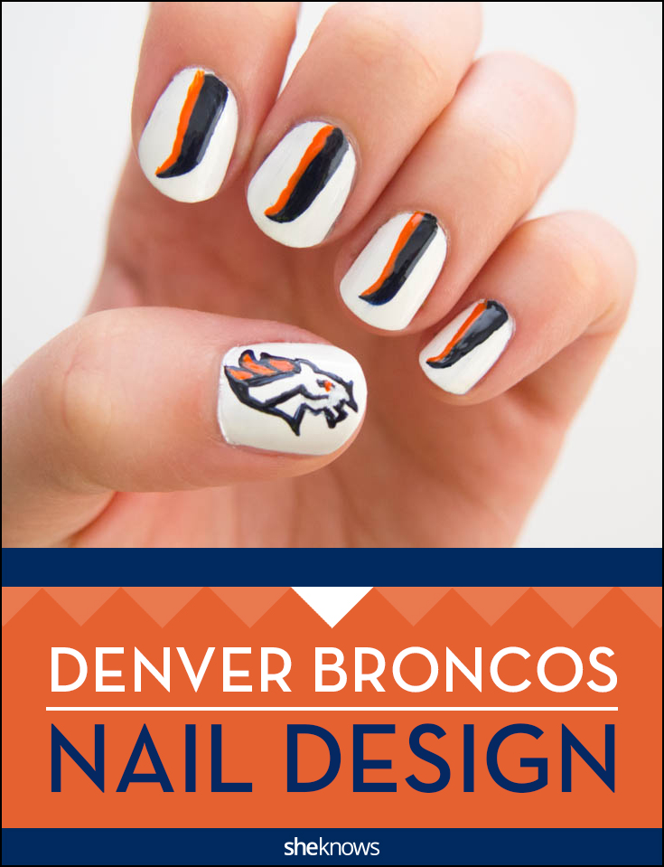 The nail design Dever Broncos fans will obsess over