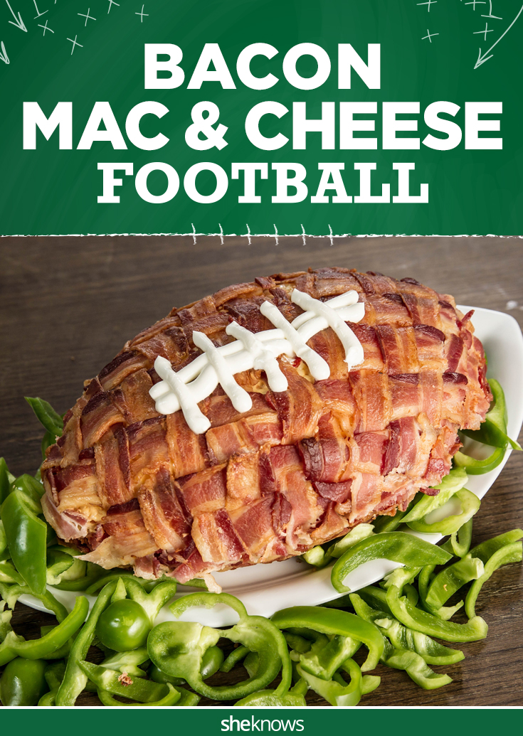 Bacon-crusted mac & cheese football is a must-make Super ...