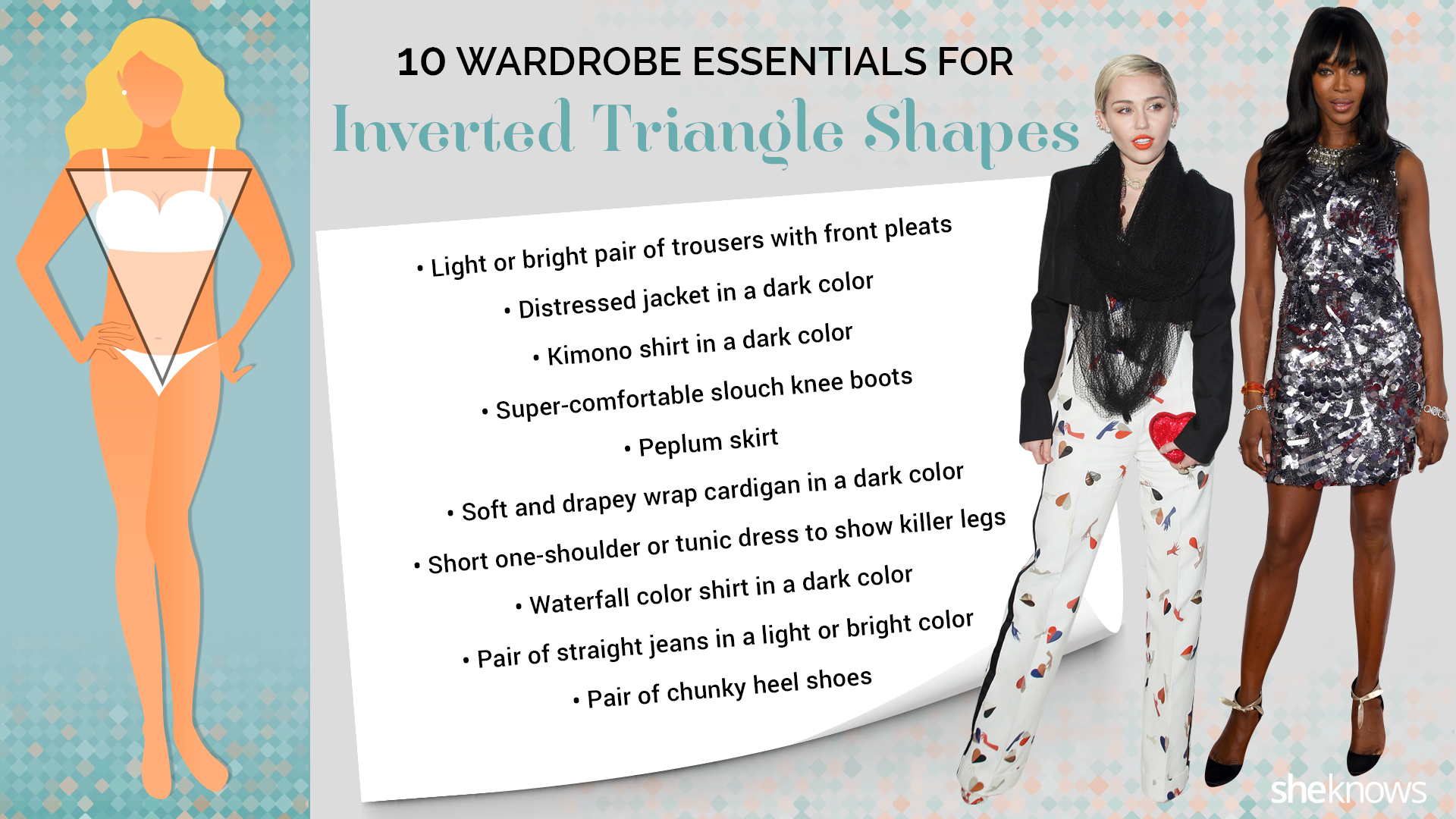 Inverted triangle shape